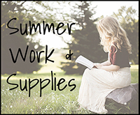 Summer Work and Supplies Lists