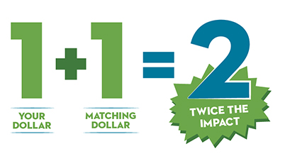 Employer matching gifts double your donation